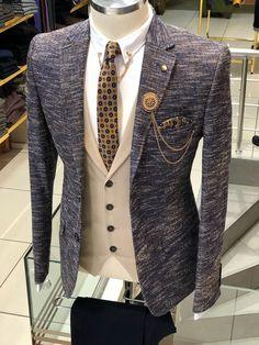 SlimFit Flamed Suit Vest Navy Blue is part of Suit vest Available Size material viscose , acrylic , VisconMachine washable No Fitting slimfit Remarks Dry Cleane - Mens Suit Vest, Plaid Suit, Dress Suits For Men, Suit And Tie, Wedding Dresses Men Indian, Wedding Suits, Mens Fashion Blazer, Suit Fashion, Mens Tailored Suits