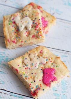 hmmm...animal cookie blondies. my childhood favorite cookie, made into a cookie?