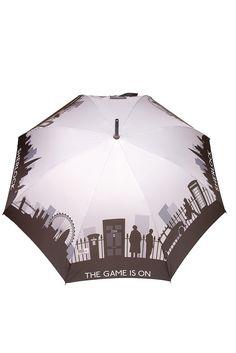 Grey Sherlock Skyline Umbrella - Official Sherlock Merchandise: SHUT UP AND TAKE MY MONEY.