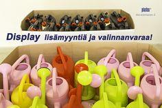 Isot puutarhakannut saatavilla näyttävissä displayssa! Made in Finland