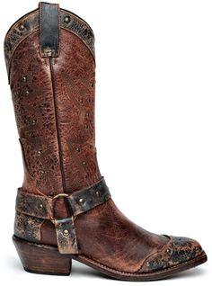 Bed Stu Boots, Cisalpine Oxblood Black - #CowgirlChic