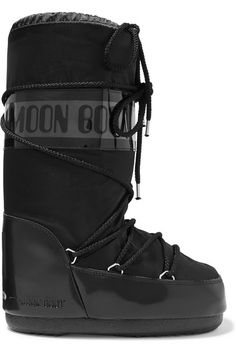 Moon Boot - Shell And Rubber Snow Boots - Black Moon Boots, J Brand Jeans, Jeans Brands, Isabel Marant, Famous Brand Shoes, Doc Martens Boots, Black Moon, Personal Shopping, Fan Art