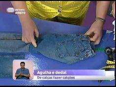 Dica de costura - De calças fazer calções - Praça da Alegria - YouTube