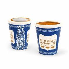 Kikkerland Classic NYC Espresso Cups (Set of 2) : Amazon.com : Kitchen & Dining