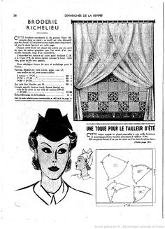 vintage pattern ladies' hats
