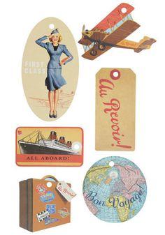 Vintage Labels No Time Like the Present Gift Tags - Multi, Handmade Vintage Luggage Tags, Vintage Tags, Vintage Labels, Vintage Paper, Retro Vintage, Vintage Style, Vintage Gifts, Retro Style, Travel Themes