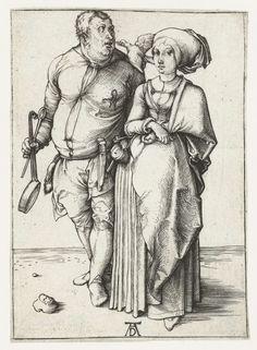De kok en zijn vrouw, Albrecht Dürer, 1494 - 1498.