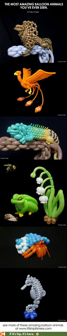 Amazing. And made with nothing but balloons and talent. #balloonanimals