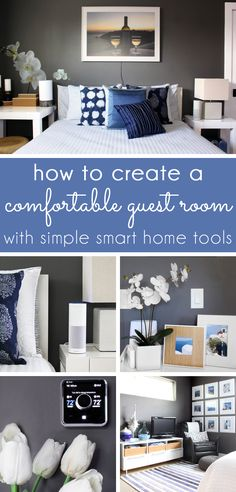 how to create a comfortable guest room with simple smart home tools