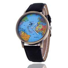 Unisex World Map Design Analog Quartz Watch Style: Casual. Watchcase Diameter: Band Length: Band Width: about Package Include: Unisex World Map Design Analog Quartz Watch Casual Watches, Watches For Men, Women's Watches, Wrist Watches, Unique Watches, Stylish Watches, Watches Online, Map Watch, World Map Design