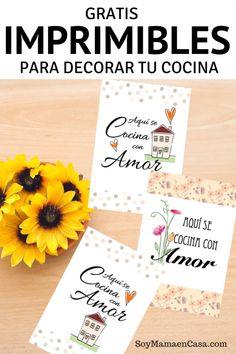 imprimibles para decorar tu cocina