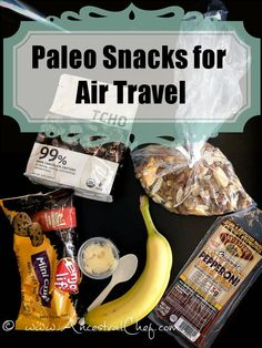 Top 10 Paleo Snacks for Air Travel - these are easy snacks to take on flights when you travel. Never go hungry or have to cheat when traveling again!