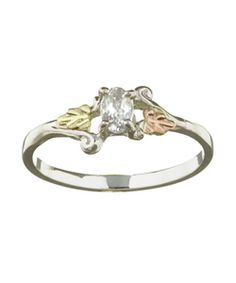 Black Hills Gold and Silver April Birthstone Ring - Overstock™ Shopping - Big Discounts on Black Hills Gold Black Hills Gold Rings