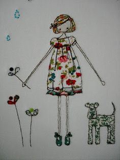 some day I'll learn to embroider!  Supercutetilly Beautiful free motion embroidery here