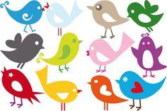 Afbeeldingsresultaat voor vogel retro t Stencils, Bird Applique, Paper Birds, Inspirational Wall Art, Bird Art, Diy For Kids, Print Patterns, Doodles, Illustration