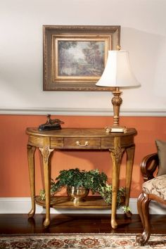 Masterpiece Kimball Traditional Medium Brown Console Table