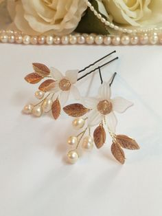 Bridal Hair Pins Wedding Hair Pins Pearl Hair от FlowerRainbow