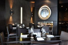 The quintessential Christchurch dining place Saggio di Vino with Escea fireplace in New Zealand