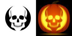 Skull Pumpkin Stencil