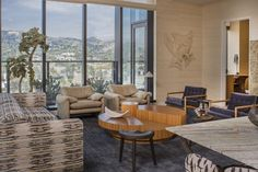 KELLY WEARSTLER | INTERIORS. Living Room, Hollywood Proper Residences Penthouse.