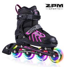 New Girls Rollerblades Adjustable Inline Skate Roller Skates Pink Several Sizes