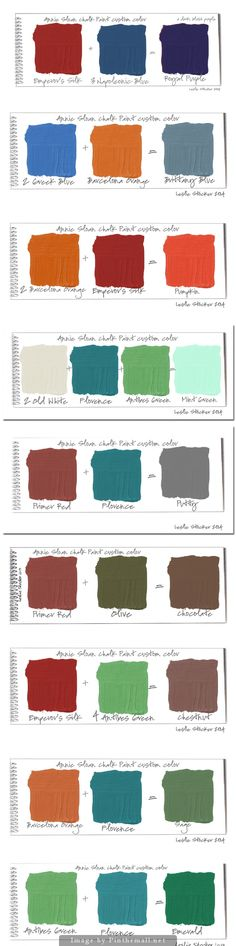 New colors made by mixing Annie Sloan Chalk Paints together.