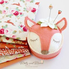 Fifi Fox is an original Molly and Mama Pin Cushion design. Adding charm and style to your sewing space, shes almost too pretty to use! Shed also make a lovely gift! This PDF sewing pattern gives you step by step instructions and the pattern template so you can hand stitch up this FELT