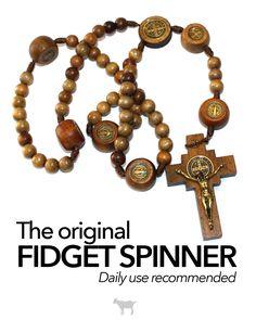 The original fidget spinner. #Catholic #Rosary #faith #prayer