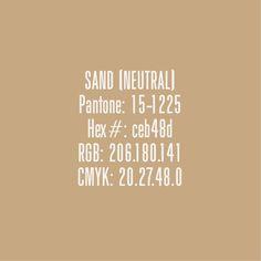Sand  - Pantone Colours