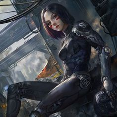 Alita : Batte Angel on PinThis Fantasy Girl, Alita Movie, Science Fiction, Alita Battle Angel Manga, Battle Robots, Arte Robot, Cyberpunk Girl, Sci Fi Characters, Ghost In The Shell