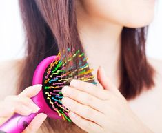 A squiggly detangling brush you'll steal from your kid.