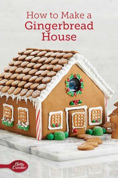 Bakers, here's your chance to pull off the ultimate Christmas baking project: a perfect gingerbread house. We've got recipes and kitchen-tested techniques to guide you through every step in the process. Christmas Desserts, Christmas Baking, Holiday Treats, Christmas Cookies, Holiday Recipes, Christmas Holidays, Christmas Crafts, Christmas Recipes, Christmas Meals