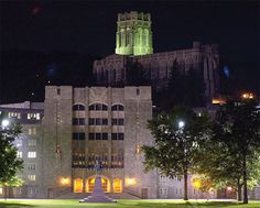 Washington Hall with the Cadet Chapel in the background at West Point