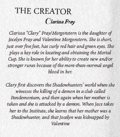 Clary Fray description #TMIMovie