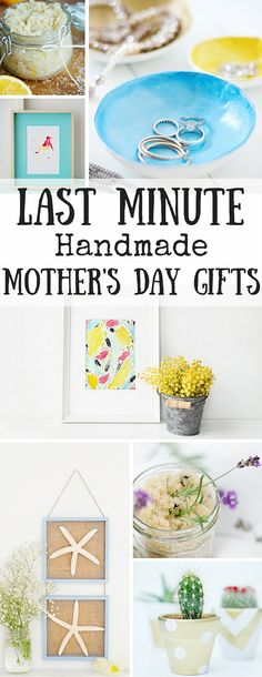 If you're looking for last minute Mothers Day gift ideas that you can make yourself, we have you covered! Easy and frugal DIY's make the best