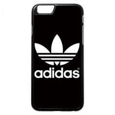 Adidas (wht on blk) iPhone 6 6s Case found on Polyvore featuring accessories, tech accessories and adidas