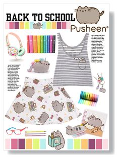 """""""#PVxPusheen"""" by mmk2k ❤ liked on Polyvore featuring Pusheen, Ray-Ban, contestentry and PVxPusheen"""