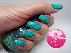 Turquoise Dry Marble Effect Nails #manails #tealpolish #nailart #bellashoot