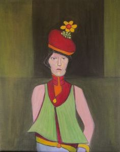 "Saatchi Art Artist Jack Michael Weinblatt; Painting, ""flower in her hat"" #art"