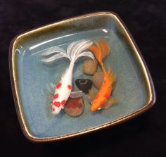 resin and acrylic by Bob Ichter (no.. they are not real fish!) ;)