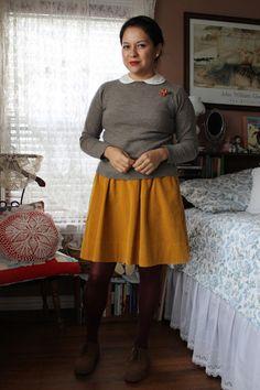 A Skirt a Day: Gray & mustard