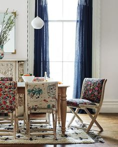 Take a seat / our new @riflepaperco-upholstered Terai chairs are the kind you'll never want to tuck away.
