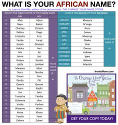 Fun name generator for Spanish, French, African and Arabic names.
