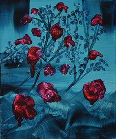"""Saatchi Online Artist: Michael Newton; Oil, 2013, Painting """"Les Fleurs du Mal VII"""""""