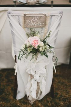 30 Awesome Wedding Sign Decor Ideas for Bride & Groom Chairs Wedding Chair Decorations, Wedding Chairs, Wedding Table, Wedding Chair Covers, Wedding Receptions, Centerpiece Decorations, Wedding Centerpieces, Wedding Bouquets, Wedding Dresses