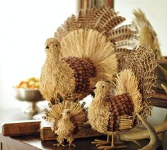 thanksgiving centerpieces to make   thanksgiving turkey table decoration 530x477 Natural Turkey Ornament ...