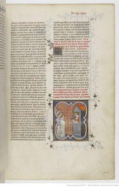 Grandes Chroniques de France Fol 415r, 1375-1380, Henri du Trévou & Raoulet d'Orléans