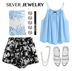 """""""Silver Jewelry"""" by angiegdurant ❤ liked on Polyvore"""