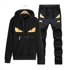 f2cbf0bcdac5fc LBL Brand Casual Mens Tracksuit Hip Hop Sweat Suits Sets Hooded Tracksuits  Male Streetwear Jogger Top + Sweatpants Set Plus Size