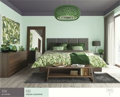 Kolor miętowy wsypialni